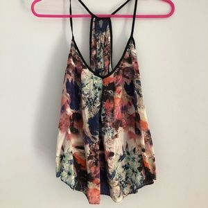 Urban Outfitters Silk Watercolor Tank